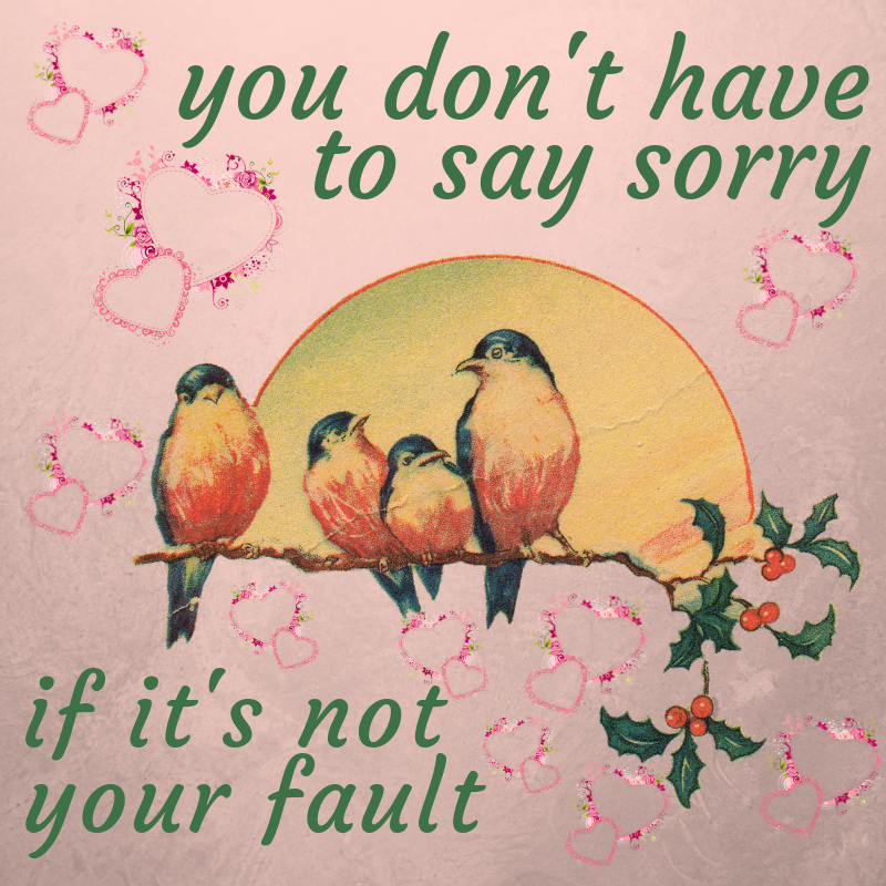 you don't have to say sorry if it's not your fault