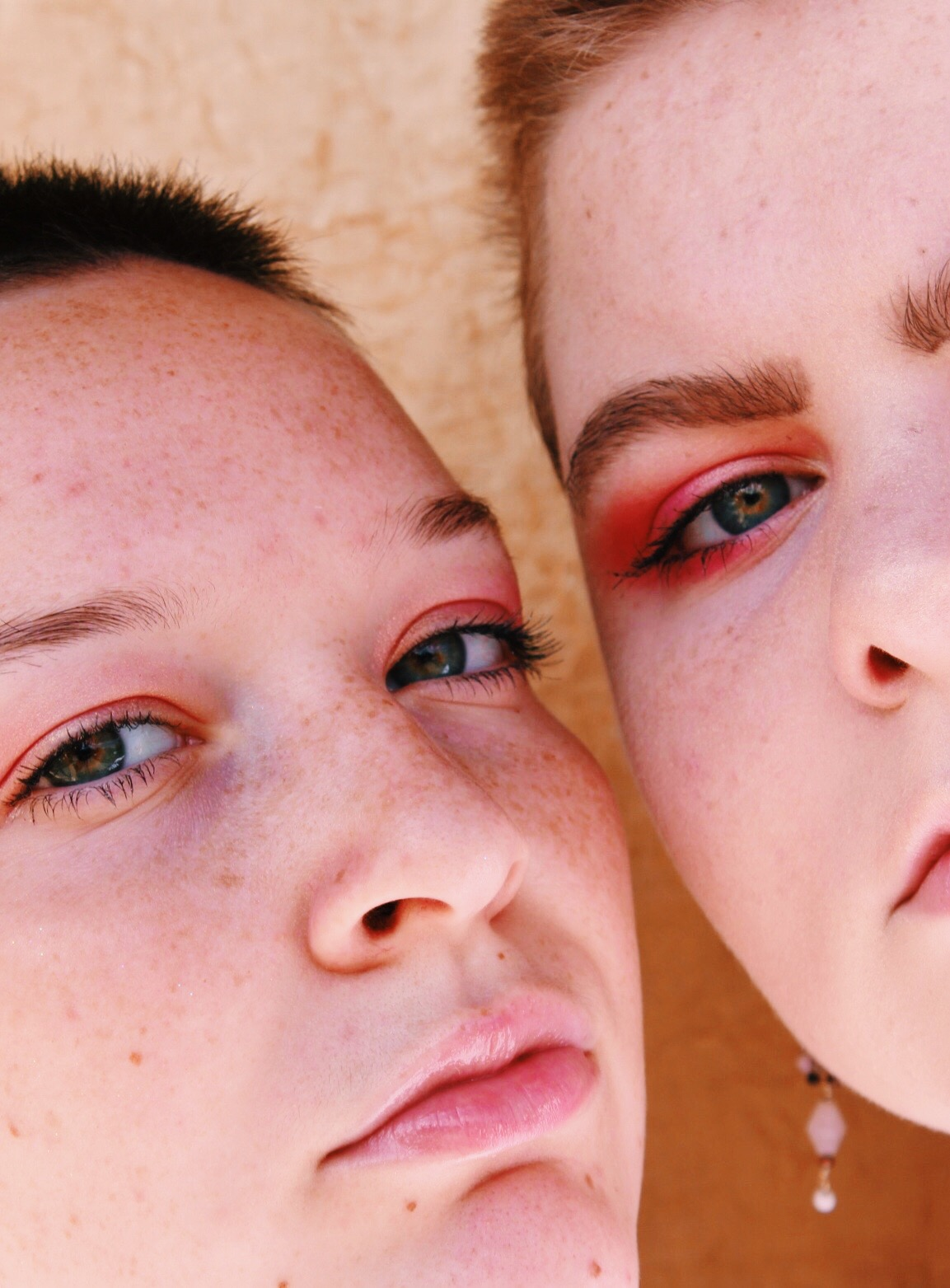 two girls with closeup